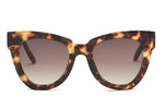 women retro vintage cat eye oversize sunglasses with tortoise frame and brown lens