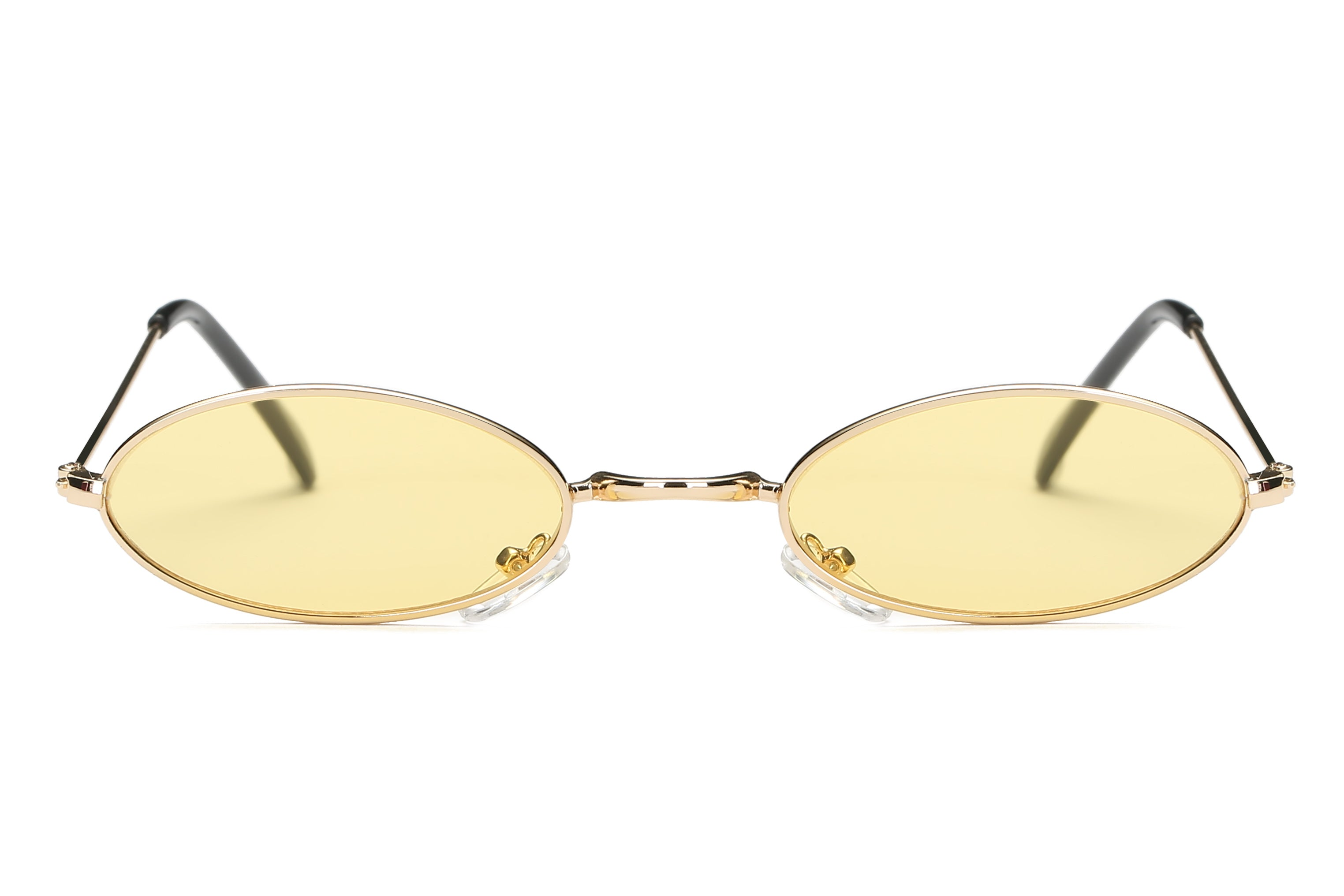 Retro Vintage Small Round Sunglasses for Men and Women - Yellow