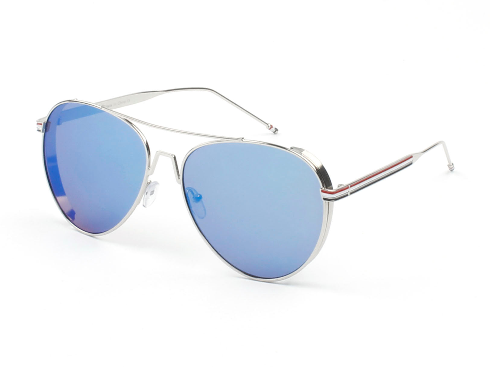 Classic Metal Aviator Fashion Sunglasses for Men and Women - Blue