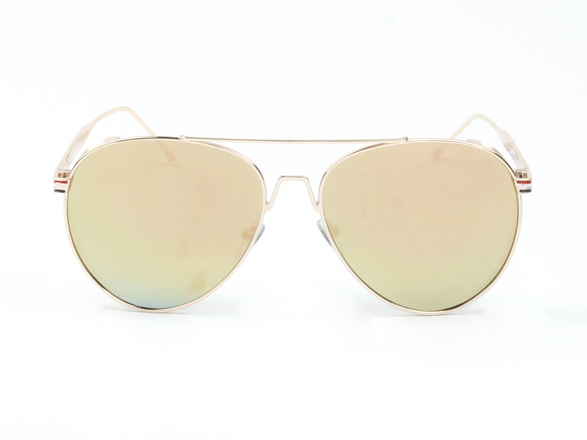 Classic Metal Aviator Fashion Sunglasses for Men and Women - Peach