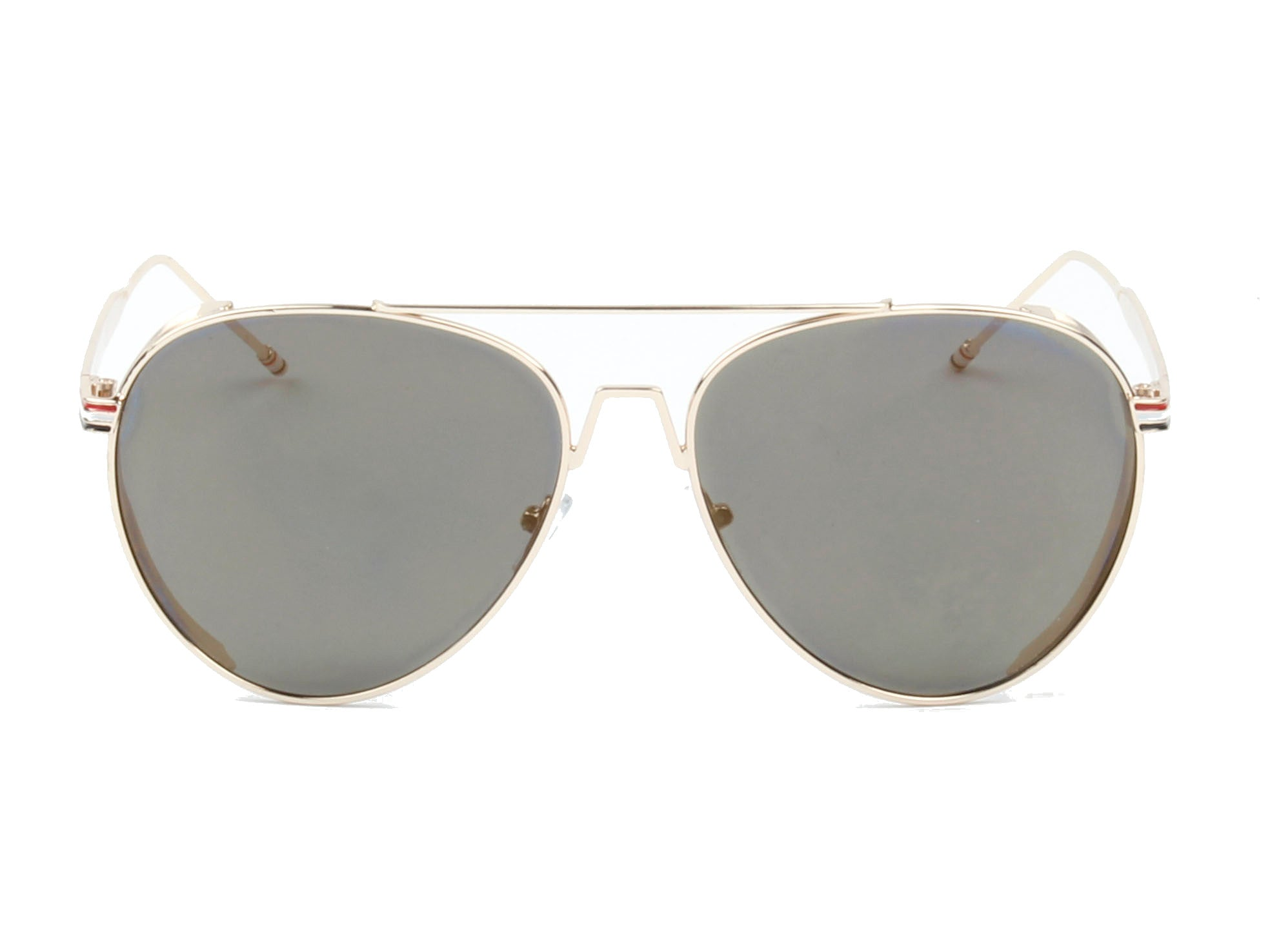 Classic Metal Aviator Fashion Sunglasses for Men and Women - Olive