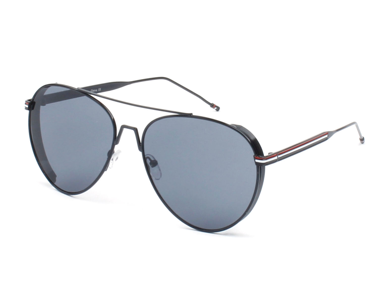 Classic Metal Aviator Fashion Sunglasses for Men and Women - Black