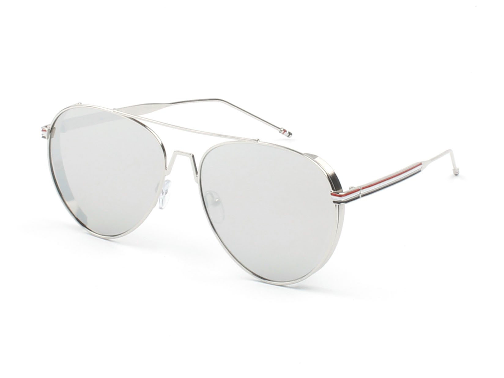 Classic Metal Aviator Fashion Sunglasses for Men and Women - Silver