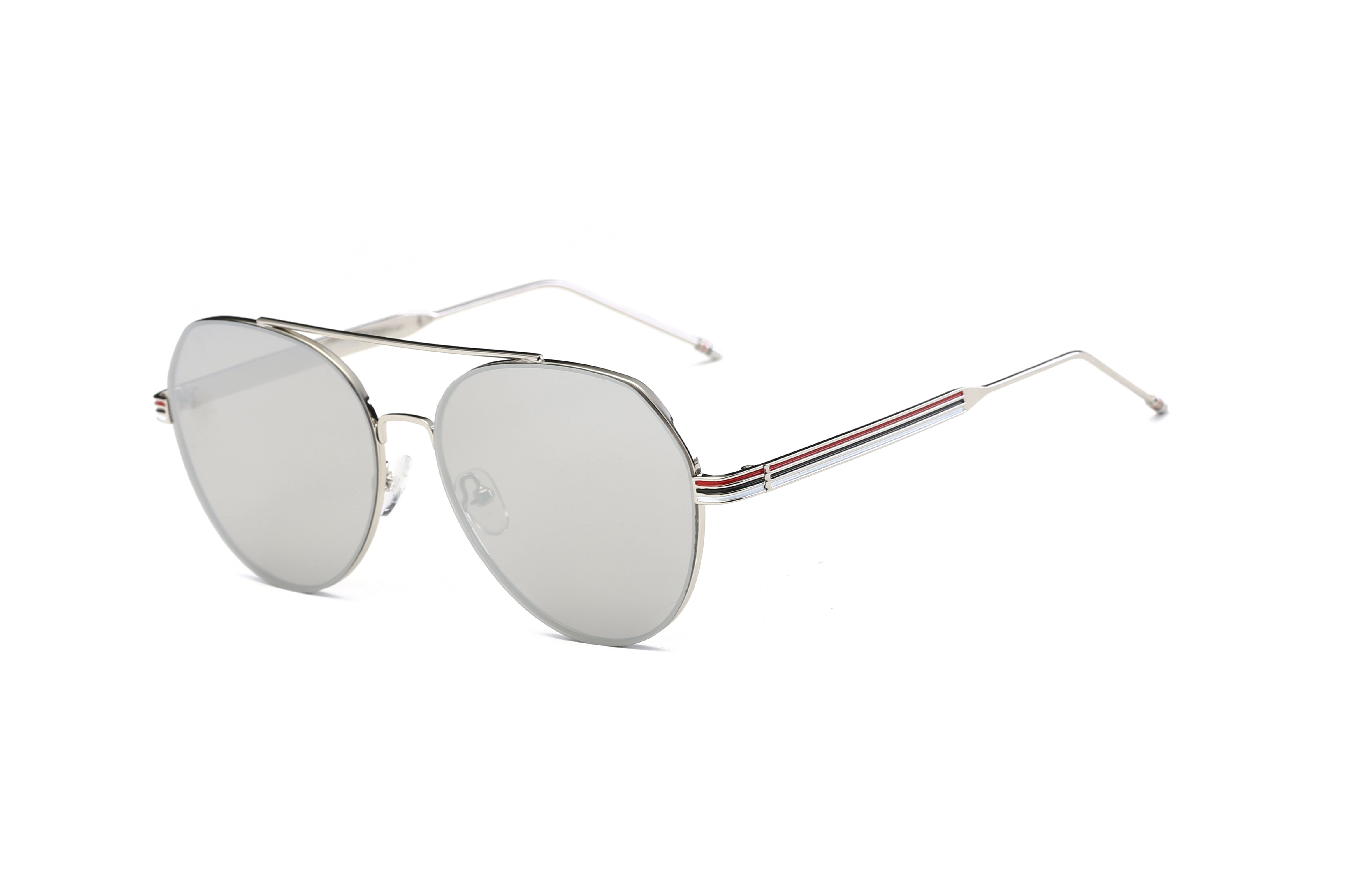 Classic Mirrored Aviator Fashion Sunglasses for Men and Women - Grey