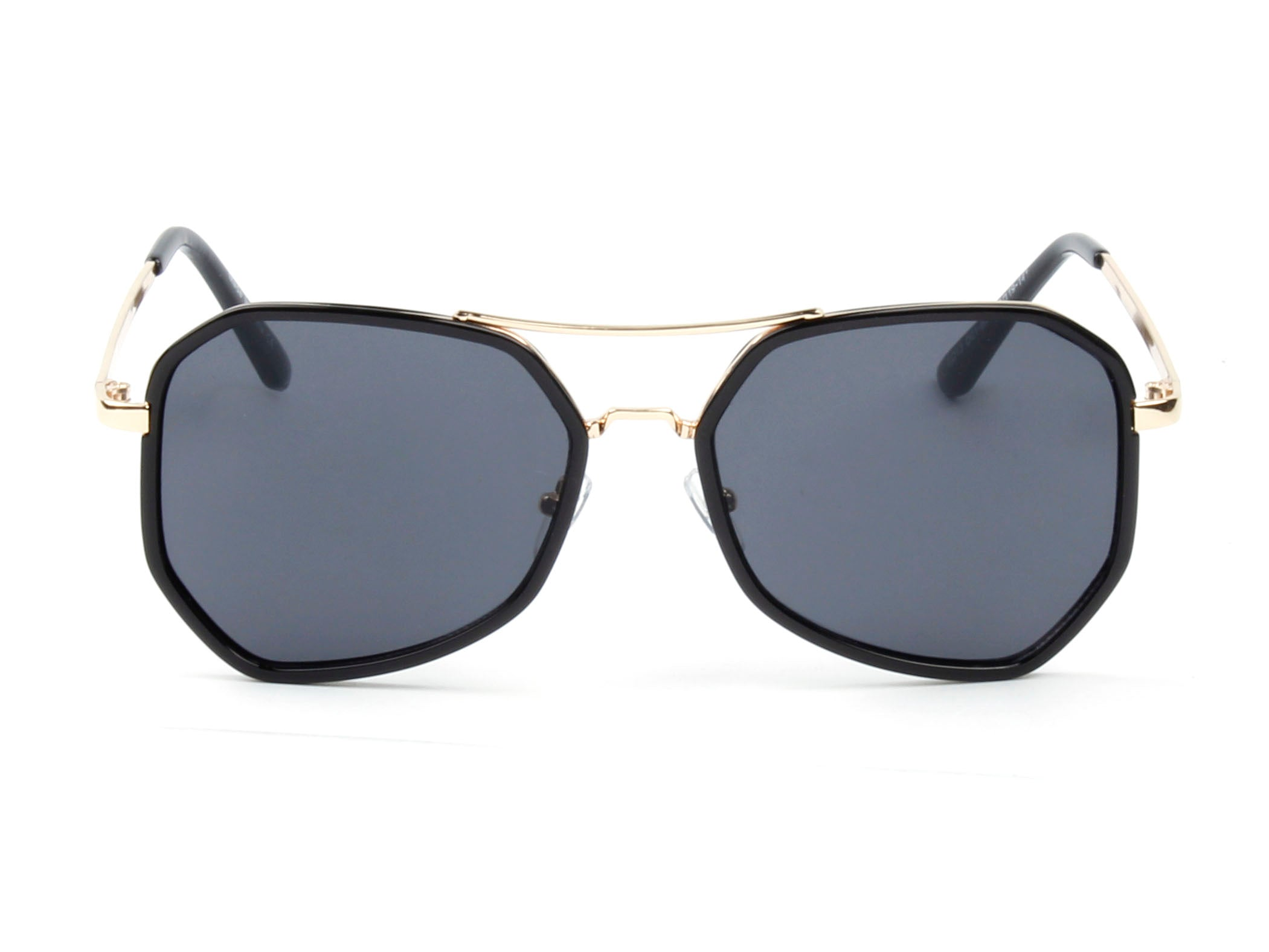 Women Mirrored Oversized Fashion Sunglasses - Black
