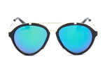 Women Mirrored Round Fashion Sunglasses - PurpleGreen