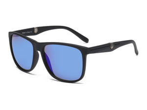 Men Retro Vintage Ultra Light Sports Rectangular UV Protection Sunglasses - Blue