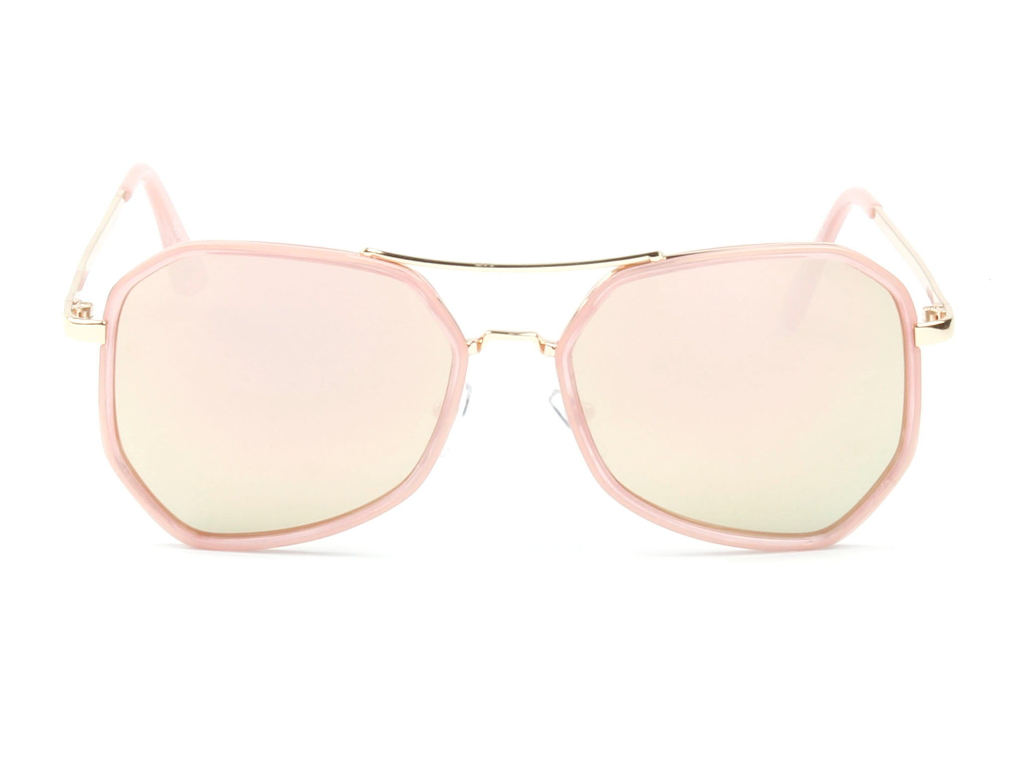 Women Mirrored Oversized Fashion Sunglasses - Pink