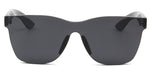 Akcessoryz-Unisex rimless square black sunglasses