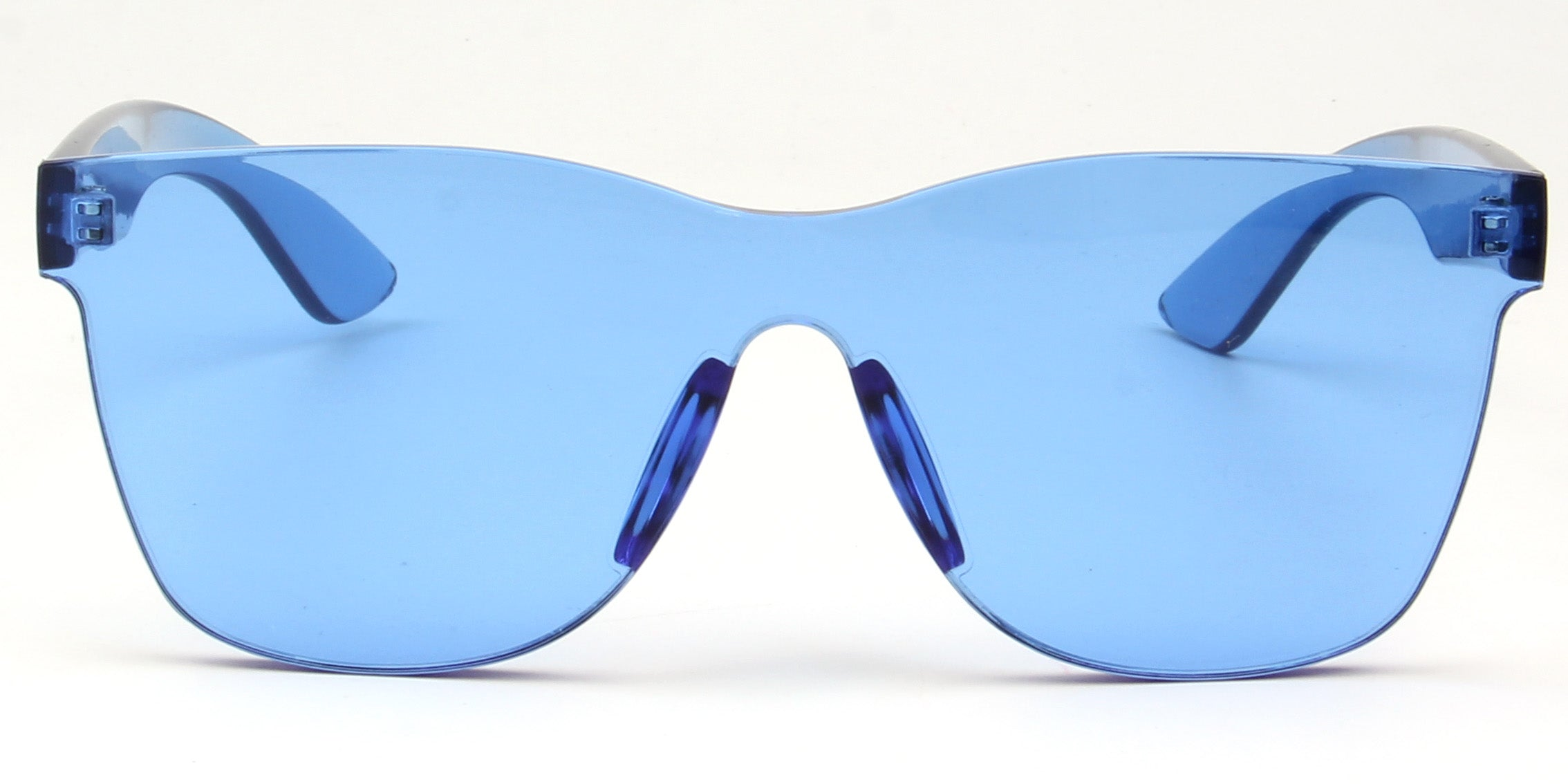 Akcessoryz-Unisex rimless square blue sunglasses