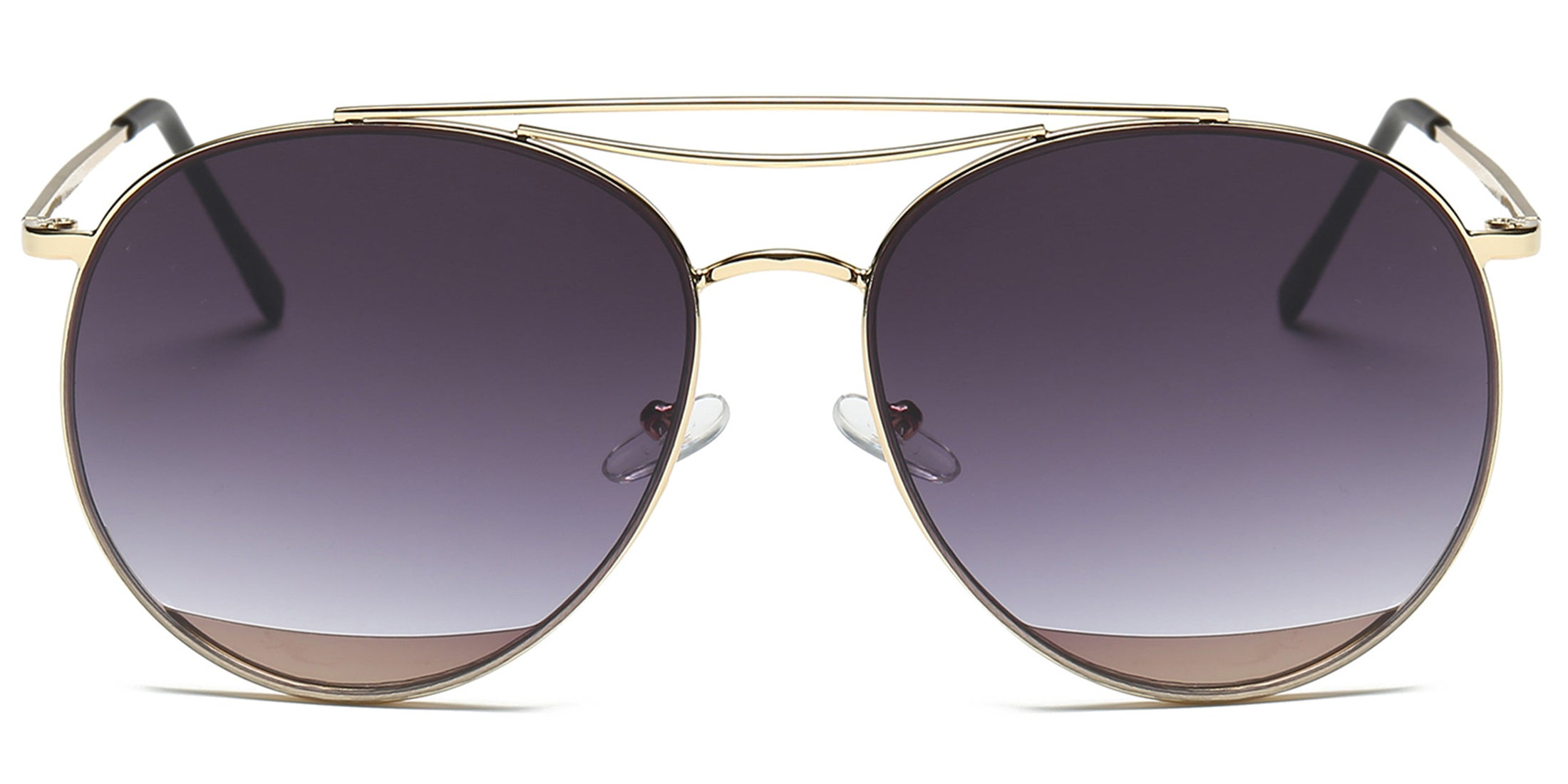 Akcessoryz-Women round purple lens with gold frame sunglasses