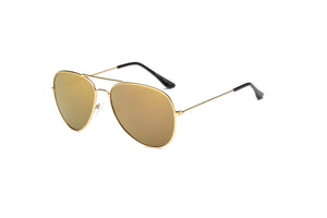 Akcessoryz-women aviator sunglasses with amber lens and gold frame