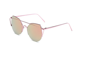 Akcessoryz-women cat eye sunglasses with orange lens and rose gold frame