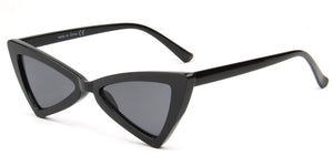 Akcessoryz-women cateye sunglasses with black lens and black frame