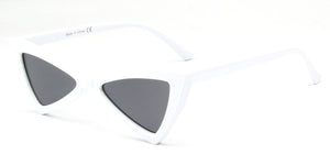 Akcessoryz-women cateye sunglasses with black lens and white frame