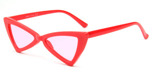 Akcessoryz-women cateye sunglasses with red lens and red frame