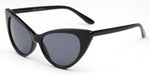 Akcessoryz-women extreme cat eye sunglasses with black lens and black frame