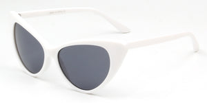 Akcessoryz-women extreme cat eye sunglasses with black lens and white frame
