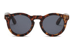 Retro Vintage Classic Unisex Round Circle Fashion Sunglasses - Tortoise