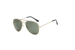 Akcessoryz-women aviator sunglasses with olive lens and gold frame