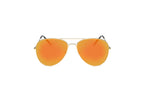 Akcessoryz-women aviator sunglasses with orange lens and gold frame