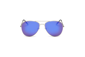 Akcessoryz-women aviator sunglasses with purple lens and silver frame