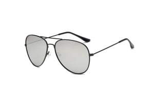 Akcessoryz-women aviator sunglasses with grey lens and black frame