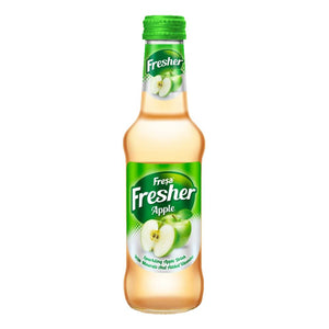 Natural Sparkling Mineral Water with Apple Fruit - Fresher - Elma - Fresa (6 x 250ml)