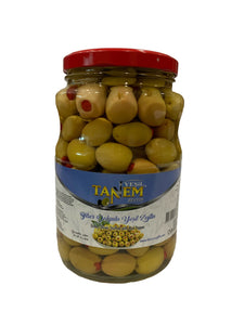 Olive - Pepper Stuffed Green Olive - Tanem- 1kg