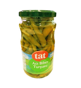 Tat - Hot Green Pepper Pickles - Yeşil Acı Biber Turşusu - 330g