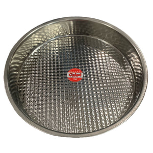 Tray - Traditional Stainless Steel Tray - Cig Kofte Tepsisi - Big Size Dia 40.5cm
