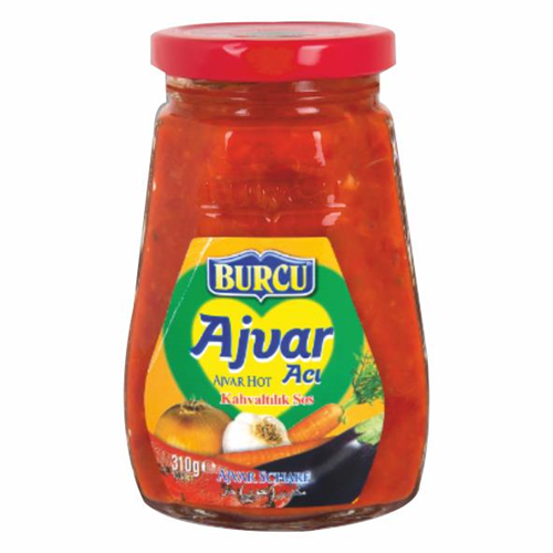 AJVAR - Natural Breakfast Companion Dip ( Hot ) - AJVAR (Aci) - Burcu- 310g