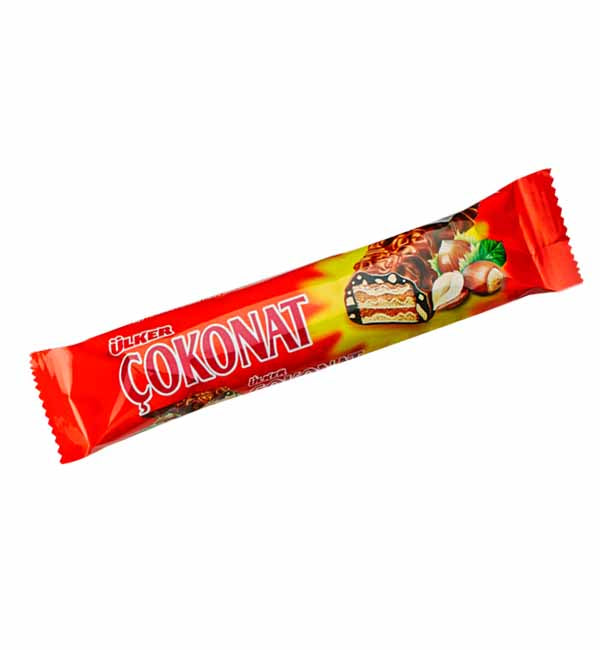 Cokonat Chocolate | Chocolate and Hazelnut Wafer | Ulker - 33g  Çokonat | Cikolatali Findikli Gofret
