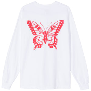 GDC BUTTERFLY L/S T-SHIRT - WHITE