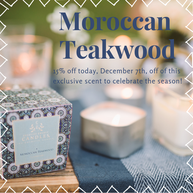 Stuff your Stocking with the Moroccan Teakwood Candle