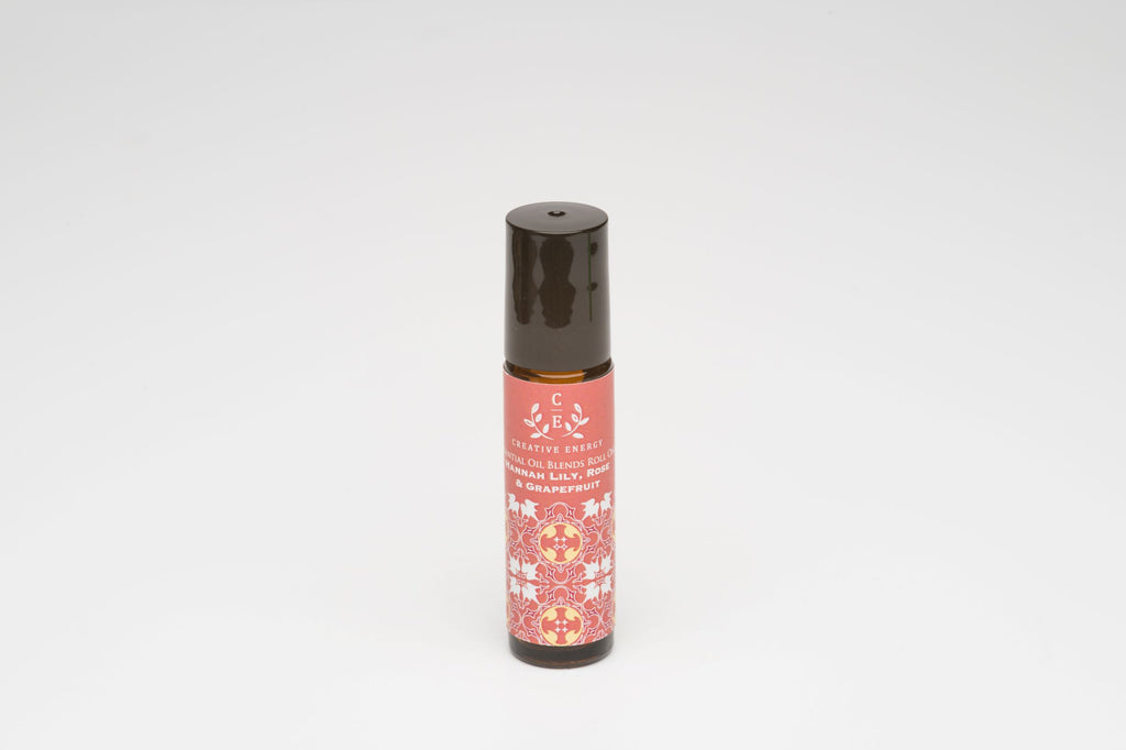 Hannah Lily, Rose & Grapefruit Roll On - Creative Energy Candles