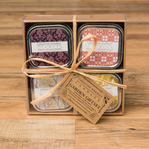 Garden Soy Lotion Candle Gift Set - Creative Energy Candles