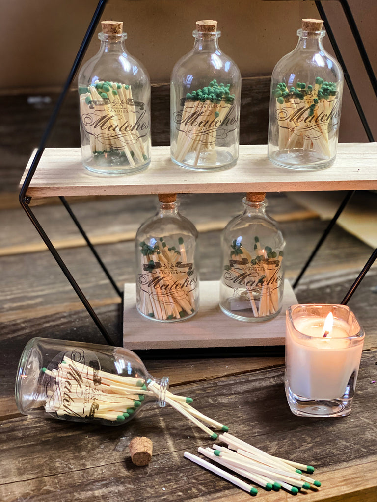 Vintage Inspired Match Bottles - Creative Energy Candles