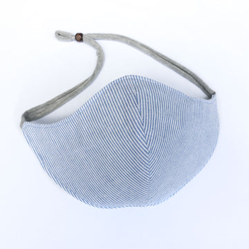 Slimline Mask | Blue Ticking Stripe