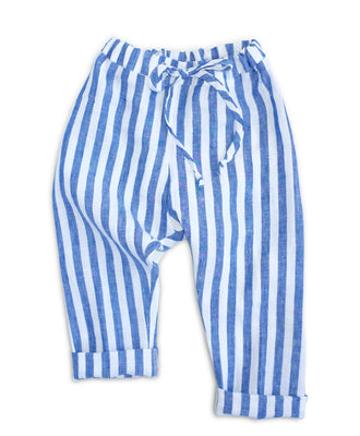 SALE Blue + White Stripe Pants
