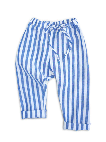 Blue + White Stripe Pants