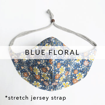 Filter Pocket Mask | Blue Floral