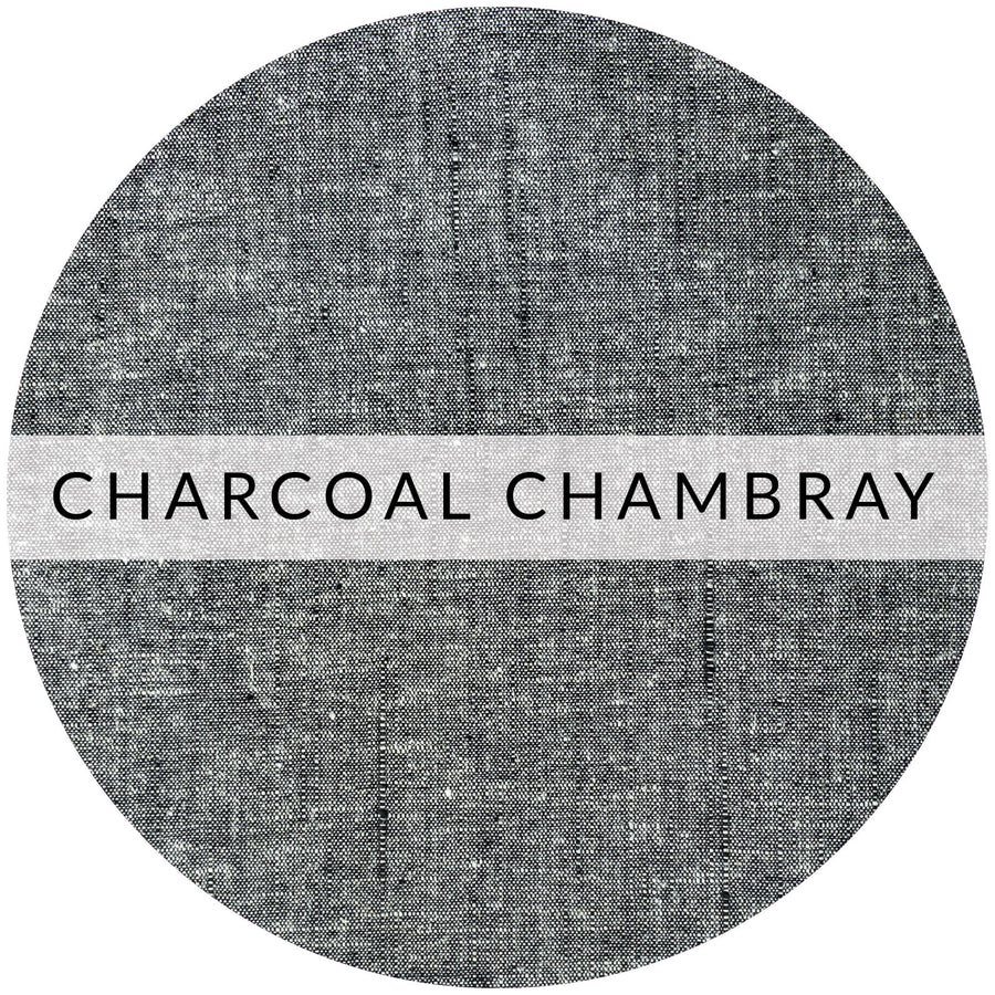 Adjustable Earloop Mask | Charcoal Chambray