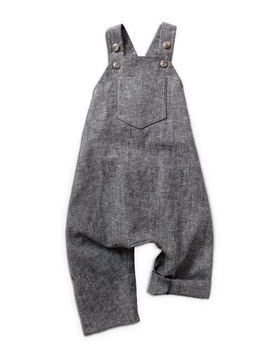 Charcoal Chambray Pocket Romper