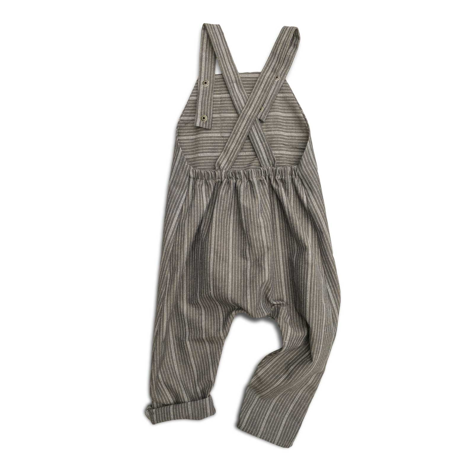 Classic Brown Striped Romper