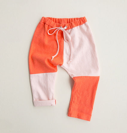 Blush + Tangerine Colorblock Pants
