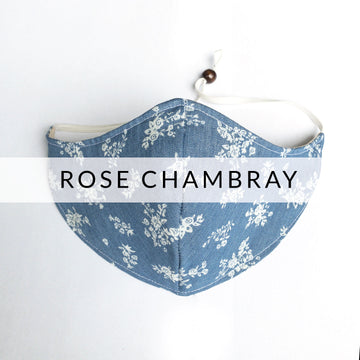 Slimline Mask | Rose Chambray