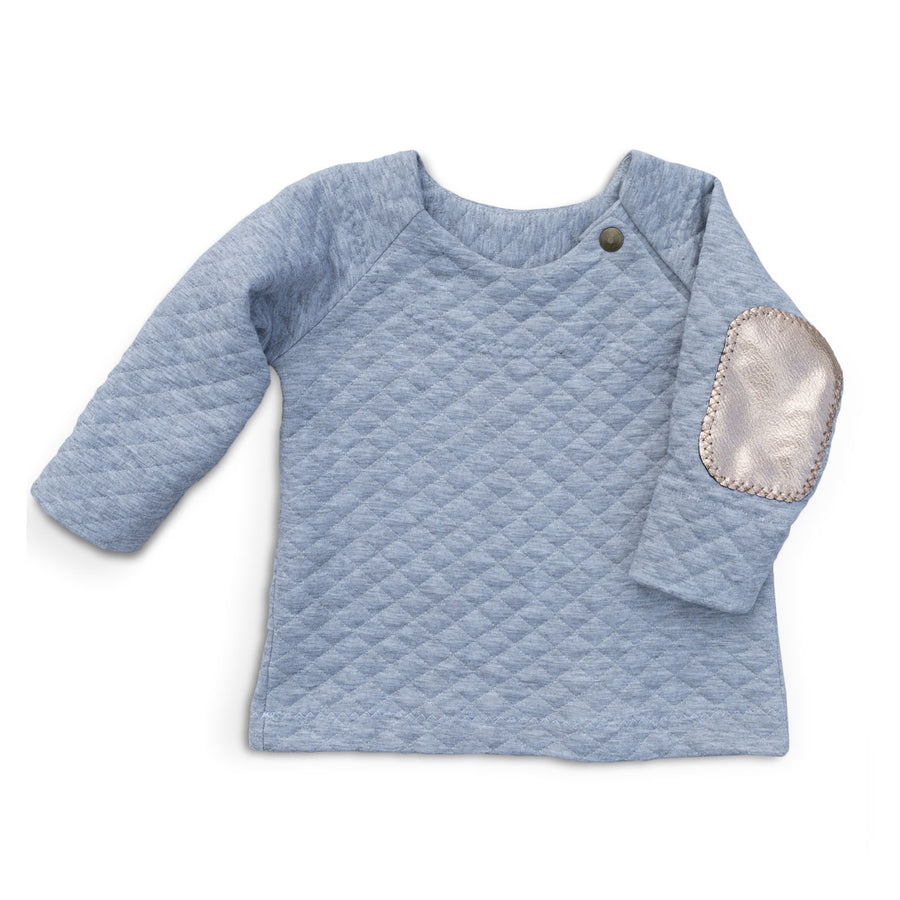 Grey Heather Quilted Top