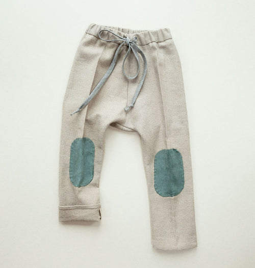 Flaxen Knee-Patch Pants