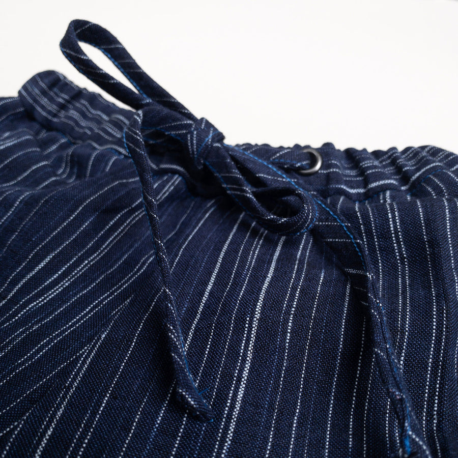 Navy Ikat Drawstring Pants